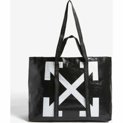 オフホワイト OFF-WHITE C/O VIRGIL ABLOH レディース トートバッグ バッグ Commercial shopper BLACK WHITE