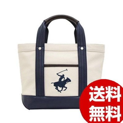 BEVERLY HILLS POLO CLUB キャンバストートバッグS BH2007N-WH/NV/NV