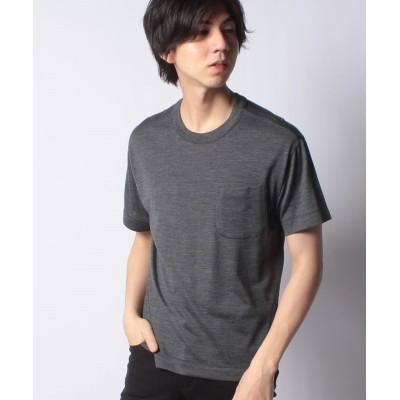 【オールドイングランド】 ポケット付き半そでTシャツ メンズ グレー M OLD ENGLAND