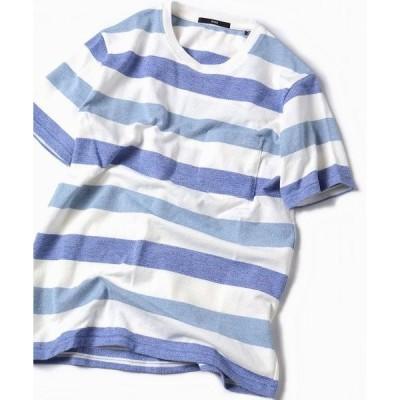 tシャツ Tシャツ SC: MADE IN JAPAN ミニパイル/ボーダー ポケット Tシャツ□