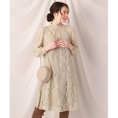 Couture Brooch/クチュールブローチ フラワーレースクロシェワンピース ライトグリーン(021) 40(L)