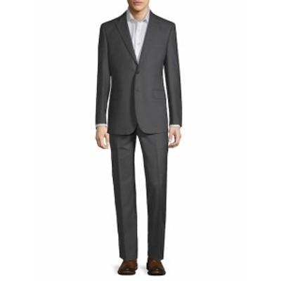 サックスフィフスアベニュー Men Clothing Stripe Wool Suit