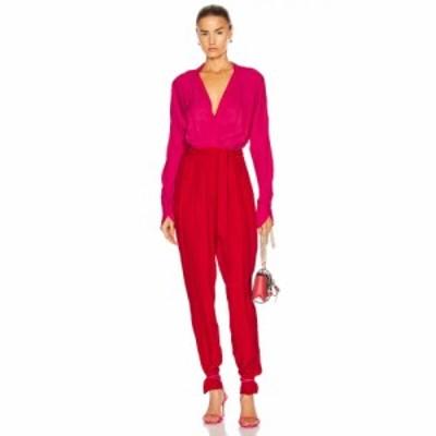 エキプモン Equipment レディース オールインワン ワンピース・ドレス Zephrina Jumpsuit Impala Lily/Haute Red