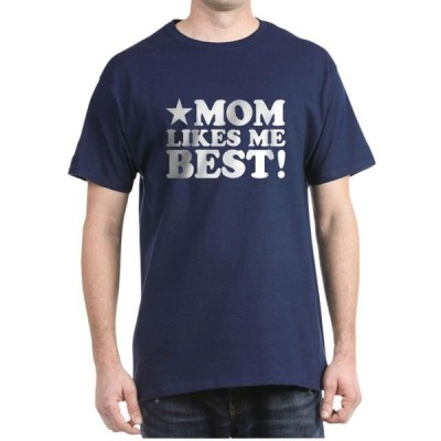 ユニセックス 衣類 トップス CafePress - Mom Likes Me Best Dark T Shirt - 100% Cotton T-Shirt Tシャツ