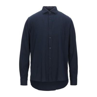 R3D WÖÔD シャツ ダークブルー XL コットン 100% シャツ