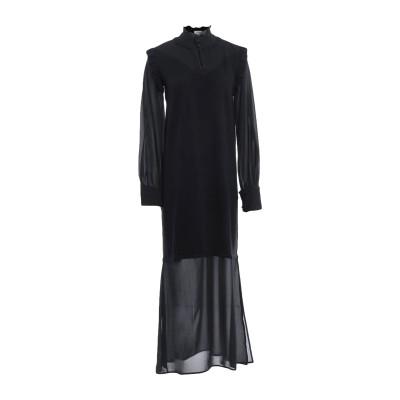 LE COEUR TWINSET 7分丈ワンピース・ドレス ブラック M レーヨン 50% / ナイロン 28% / ポリエステル 22% 7分丈ワ