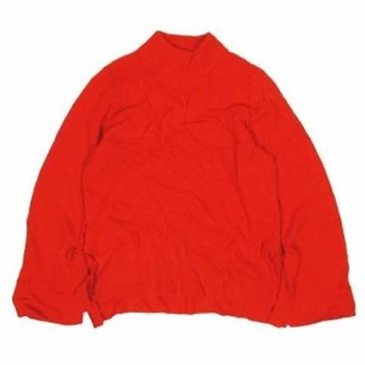 【中古】カプリシューレマージュ CAPRICIEUX LE'MAGE ニット セーター モックネック 長袖 リボン付き F 朱色 ▽5