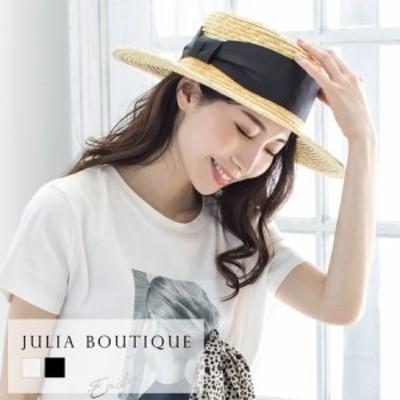 2021春夏新作! 帽子 リボン付きストローハット・カンカン帽 21166 || 服飾雑貨
