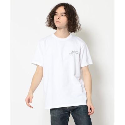 【RAWLIFE】 DENHAM/デンハム/THAMES TEE HCJ/シザーステッチTシャツ/27_1_27210251092 メンズ ホワイト XS RAWLIFE