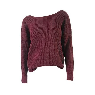 SEMATOMALA Women's Sexy Off One Shoulder Knitted Jumper Long Sleeve Ribbed