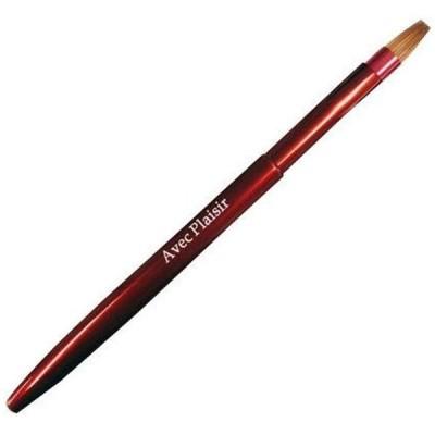 喜筆 KIHITSU 熊野筆 携帯リッププッシュ式ブラシ 赤 14-4 メイクブラシ