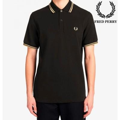 フレッドペリー ポロシャツ メンズ THE FRED PERRY SHIRT M12  BLACK / CHAMP / CHAMP