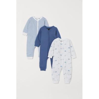 H&M - コットンパジャマ 3着セット - ブルー