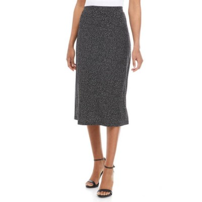 カスパール レディース スカート ボトムス Women's Printed Jersey Midi Flared Skirt