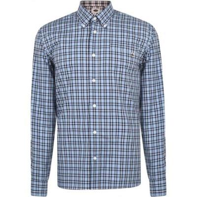 プリティー グリーン Pretty Green メンズ シャツ トップス Leon Check Shirt White/Navy