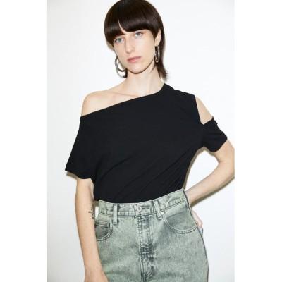 【スライ】 OPEN SHOULDER Tシャツ レディース ブラック 2 SLY