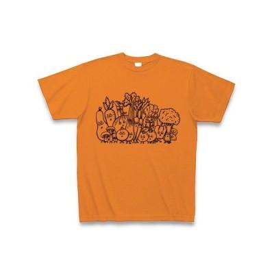 がんばれ野菜!! Tシャツ (オレンジ)