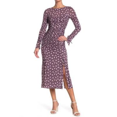 ダイアン フォン ファステンバーグ レディース ワンピース トップス Corinne Ruched Printed Midi Dress PEBBLES WI