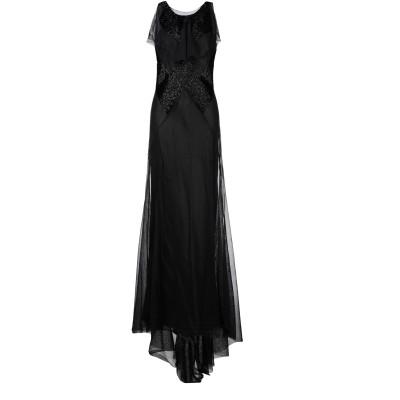 メゾン マルジェラ MAISON MARGIELA ロングワンピース&ドレス ブラック 40 コットン 100% ロングワンピース&ドレス