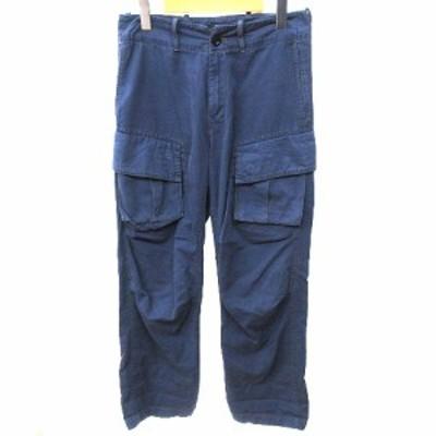 【中古】ワイズ Y's 07SS カーゴパンツ ミリタリー Wポケット サルエル ヨウジヤマモト 1 W31 紺 ネイビー IBS91