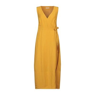 PAOLA PRATA ロングワンピース&ドレス オークル S レーヨン 60% / リネン 40% ロングワンピース&ドレス