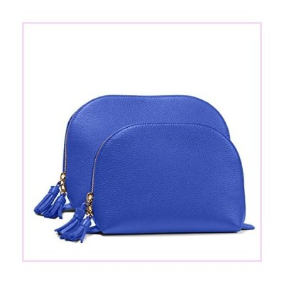 Leatherology Electric Blue Clamshell Makeup Bag Set■並行輸入品■