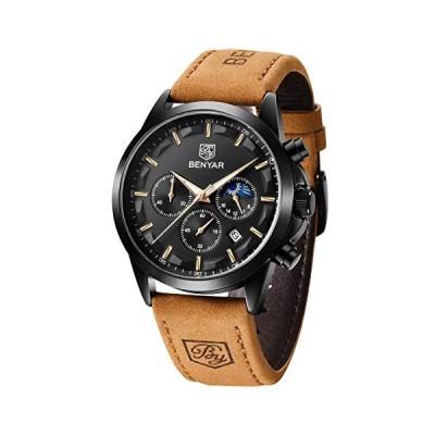 (ベニア) BENYAR メンズ腕時計 アナログ クォーツムーブメント スタイリッシュなクロノグラフ カジュアルでスポーティなデザイン エレガント 3
