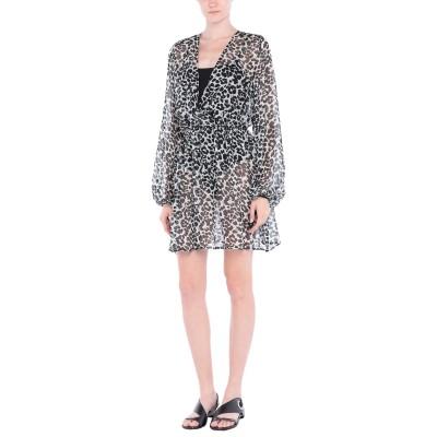 FISICO ビーチドレス ブラック S シルク 100% ビーチドレス