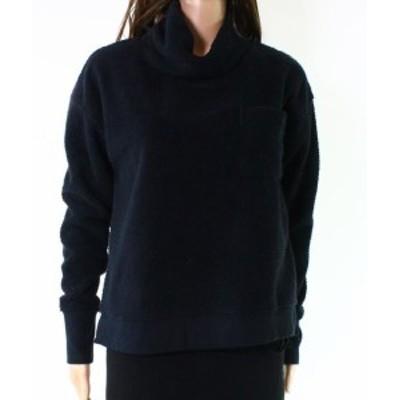 Vineyard Vines ヴィニヤードヴァインズ ファッション トップス Vineyard Vines NEW Black Womens Size Medium M Fleece Cowl Neck Sweat