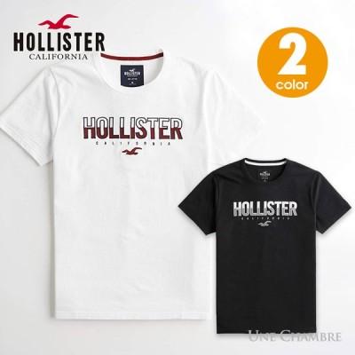 ホリスター メンズ アップリケ刺繍 ロゴグラフィック半袖Tシャツ Hollister Logo Graphic Tee ホワイト、ブラック