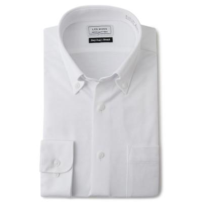 形態安定 スーパーストレッチボタンダウンシャツ LES MUES レギュラーフィット