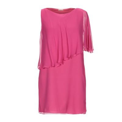 ガリアーノ GALLIANO ミニワンピース&ドレス フューシャ 40 シルク 100% ミニワンピース&ドレス