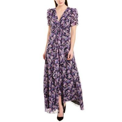 ショシャーナ ワンピース トップス レディース Shoshanna Midnight Silk-Blend Maxi Dress violet/silver