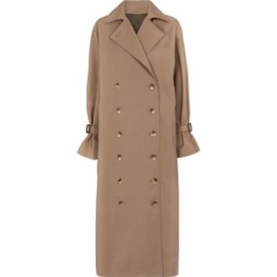 トーテム Toteme レディース トレンチコート アウター cotton-blend trench coat Khaki