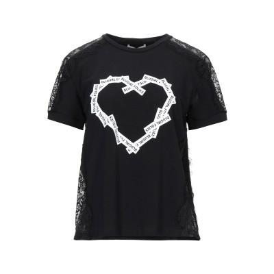 ブルーガール ブルマリン BLUGIRL BLUMARINE T シャツ ブラック 38 コットン 95% / ポリウレタン 5% T シャツ