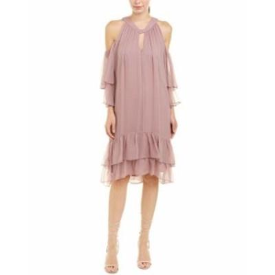 BCBGMAXAZRIA BCBG マックスアズリア ファッション ドレス Bcbgmaxazria Cold-Shoulder Silk Shift Dress