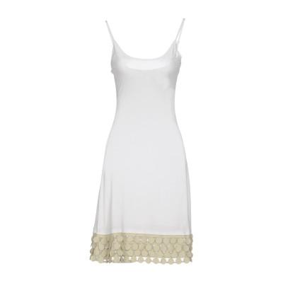 ジャスト・フォー・ユー JUST FOR YOU ミニワンピース&ドレス ホワイト S レーヨン 100% ミニワンピース&ドレス