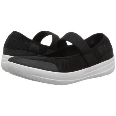 フィットフロップ FitFlop レディース スニーカー シューズ・靴 Uberknit Mary Jane Ballerina Black