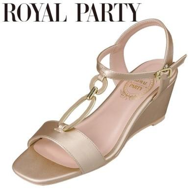 ロイヤルパーティ ROYAL PARTY RP8660 レディース | サンダル | ウェッジソール | ゴールド金具 | ネックベルト | ゴールド