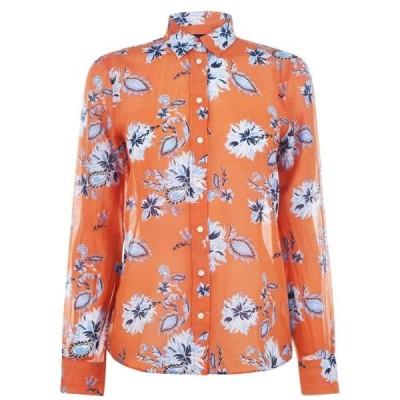 ガント Gant レディース ブラウス・シャツ トップス Paisley Cotton Silk Shirt AMBER