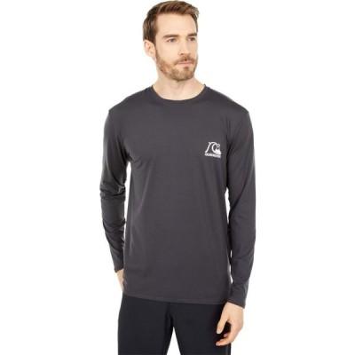 クイックシルバー Quiksilver メンズ ラッシュガード Tシャツ 水着・ビーチウェア Heritage Long Sleeve Surf Tee Tarmac Heather