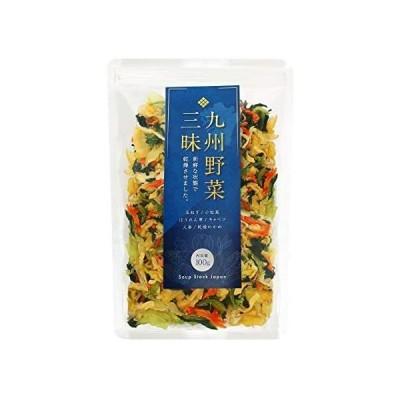 九州野菜三昧 乾燥野菜 国産 無添加 野菜5種類+わかめ ミックス100g (1袋) みそ汁の具 ラーメンの具 カップの具 非常食 (1袋)