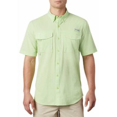 コロンビア メンズ シャツ トップス  PERMIT Woven Short Sleeve Shirt Jade Lime