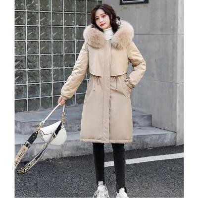 暖かい アウター 学生 希少 通学 上質コート レディース ロング丈コート 中綿ジャケット 上着 カジュアル 防寒 防風 OL 通勤