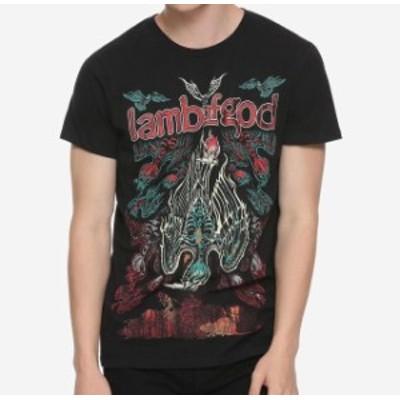 Music  ファッション トップス Lamb Of God Skeleton Birds Black T-Shirt Mens Flying Rock Band Music Bravado NWT