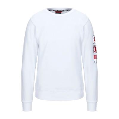 KEJO スウェットシャツ ホワイト XL コットン 100% スウェットシャツ