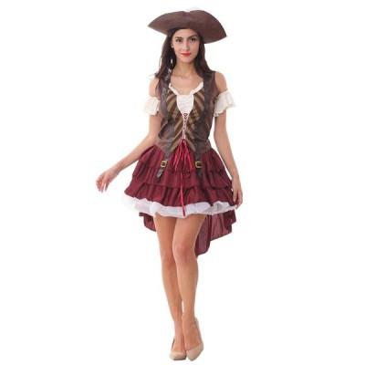 怪盗キャプテン仮装 海賊 コスプレ衣装 レディース ハロウィンコスチューム