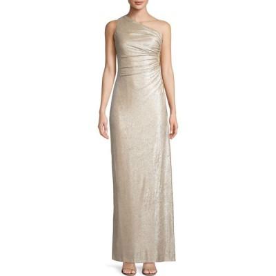 カルバンクライン Calvin Klein レディース パーティードレス ワンピース・ドレス Side-Ruched 1-Shoulder Gown