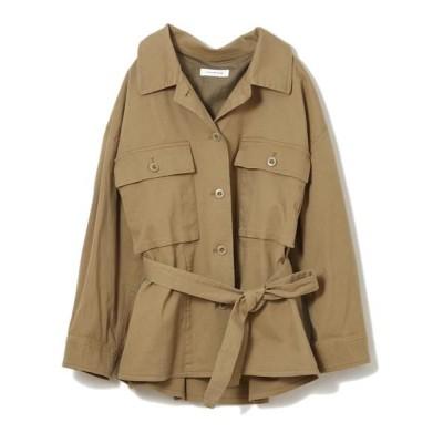 CLEAR IMPRESSION/クリアインプレッション コットンクロスシャツジャケット モカチャ3 02