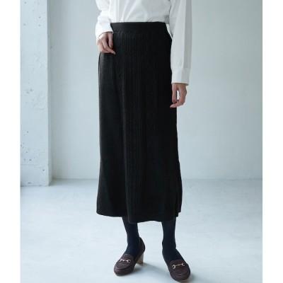 【ロペピクニック/ROPE' PICNIC】 【セットアップ対応】細ケーブルマーメイドニットスカート